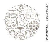 vector pottery workshop banner...   Shutterstock .eps vector #1101960164