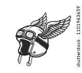 winged racer helmet on white...   Shutterstock .eps vector #1101963659