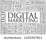 digital marketing word cloud... | Shutterstock . vector #1101967811
