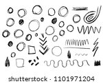 sketched circles and vector...   Shutterstock .eps vector #1101971204