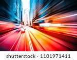 abstract motion blur city... | Shutterstock . vector #1101971411