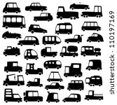 big set of cartoon cars... | Shutterstock . vector #110197169