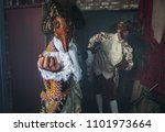 actors in steam punk masks and... | Shutterstock . vector #1101973664