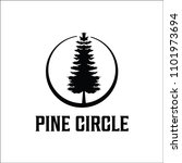 pine logo for forest care | Shutterstock .eps vector #1101973694
