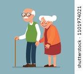vector illustration elderly... | Shutterstock .eps vector #1101974021