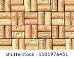 wine bottle cork. wooden tap.... | Shutterstock .eps vector #1101976451