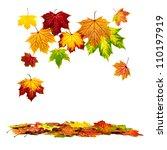 multi colored autumn leaves... | Shutterstock . vector #110197919