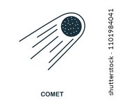 comet icon. flat style icon... | Shutterstock .eps vector #1101984041