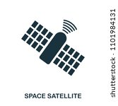 space satellite icon. flat...