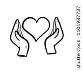 protect heart doodle icon... | Shutterstock .eps vector #1101987737