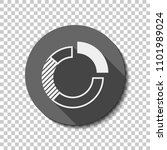 business pie chart icon. flat...