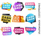 cash back sale banners with... | Shutterstock . vector #1101990461