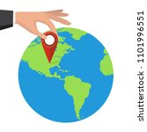 pin location on a global map.... | Shutterstock .eps vector #1101996551
