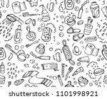 bathroom set  washing  bathing  ... | Shutterstock .eps vector #1101998921