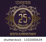 happy anniversary emblem kit.... | Shutterstock .eps vector #1102000634