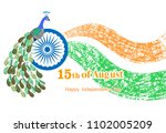 happy independence day india on ... | Shutterstock .eps vector #1102005209