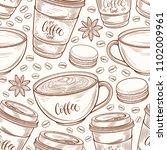 hand drawn seamless pattern... | Shutterstock .eps vector #1102009961