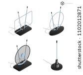 vector tv antennas  realistic... | Shutterstock .eps vector #1102012871