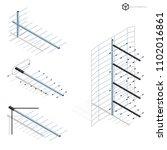 vector tv antennas  realistic... | Shutterstock .eps vector #1102016861