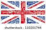 Flag Of England From Symbols O...