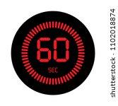 the 60 seconds  stopwatch... | Shutterstock .eps vector #1102018874