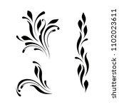 the set of decorative design... | Shutterstock .eps vector #1102023611