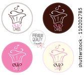 cupcake set | Shutterstock .eps vector #110202785