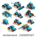 agricultural machines isometric ... | Shutterstock .eps vector #1102029167