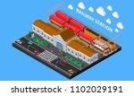 railway station isometric... | Shutterstock .eps vector #1102029191