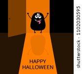 happy halloween. screaming...   Shutterstock .eps vector #1102030595