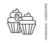 sweet treats black icon concept.... | Shutterstock .eps vector #1102031945