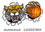a wildcat angry animal sports... | Shutterstock .eps vector #1102037804