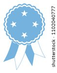 micronesia award ribbon vector... | Shutterstock .eps vector #1102040777