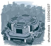 landmarks of sofia   national...   Shutterstock .eps vector #1102042337