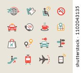 set of travel icons | Shutterstock .eps vector #1102043135