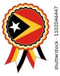 east timor award ribbon vector... | Shutterstock .eps vector #1102046447
