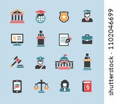 law   justice icon set | Shutterstock .eps vector #1102046699