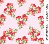 seamless floral pattern with... | Shutterstock .eps vector #1102047287