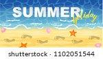 horizontal summer banner....   Shutterstock .eps vector #1102051544