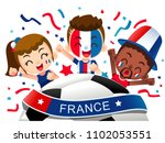 vector illustration of france... | Shutterstock .eps vector #1102053551