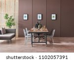 modern meeting room wood table... | Shutterstock . vector #1102057391