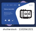 quality one page voice recorder ... | Shutterstock .eps vector #1102061321