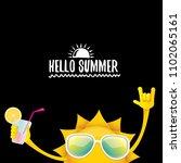 hello summer rock n roll vector ... | Shutterstock .eps vector #1102065161