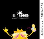 hello summer rock n roll vector ... | Shutterstock .eps vector #1102065164