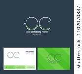 letters o c joint logo icon... | Shutterstock .eps vector #1102070837