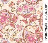 fantastic pink floral seamless... | Shutterstock .eps vector #1102071584