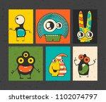 set of six retro postage s...   Shutterstock .eps vector #1102074797