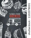 food truck menu design template ... | Shutterstock .eps vector #1102078031