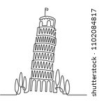 continuous line drawing of... | Shutterstock .eps vector #1102084817