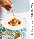 traditional italian pasta with... | Shutterstock . vector #1102085945